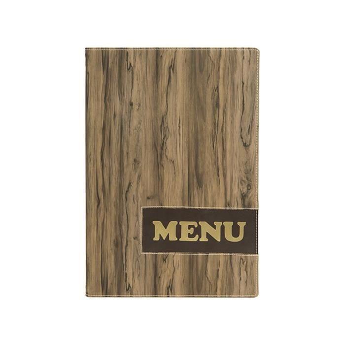 Protège-menus A4 Design Wood 0,7 Marron