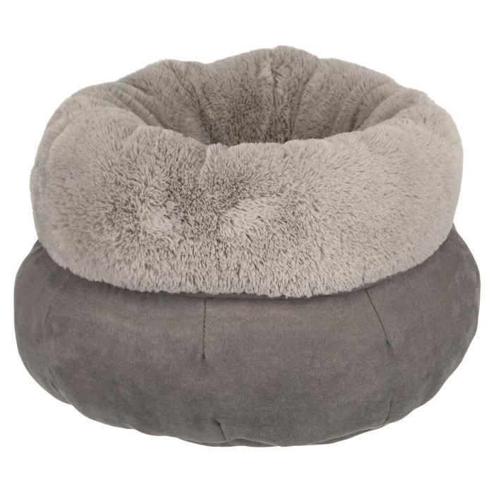 TRIXIE Lit Elsie ø 45 cm - Gris et gris clair - Pour chien