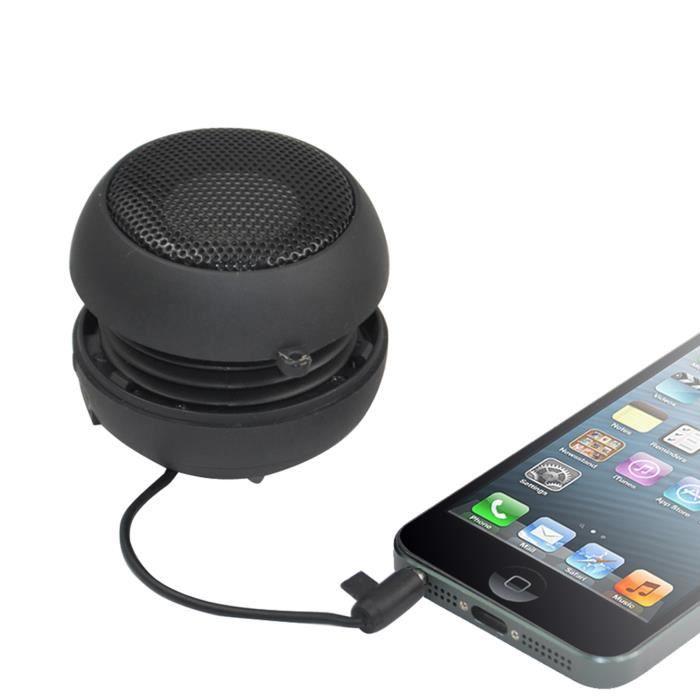 TRIXES Mini haut-parleur portable à basse extensible pour iPod, iPhone et lecteurs MP3