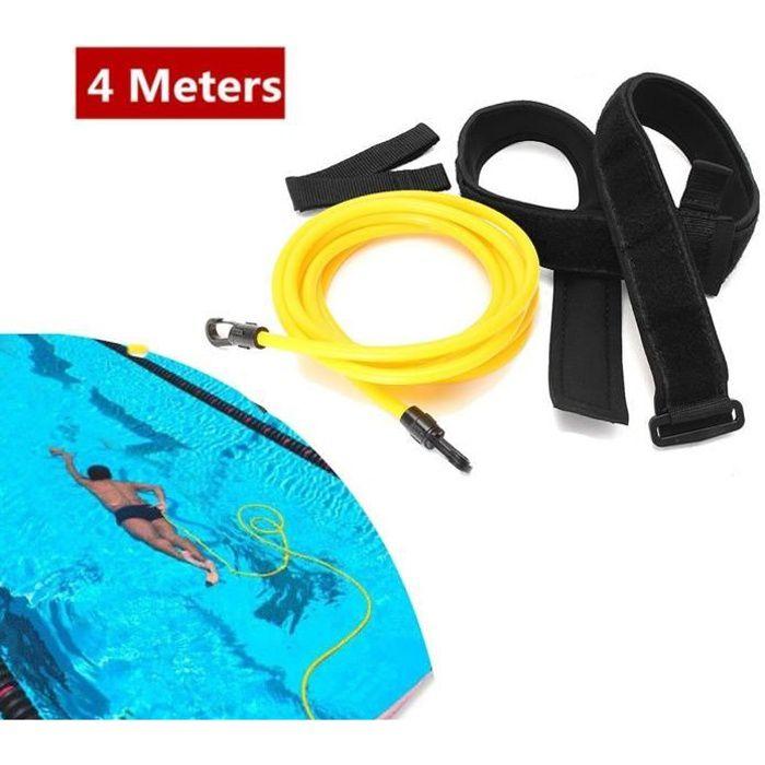 Ceinture de Natation Cordes - Bandes de résistance à la natation Corde d'entraînement à l'élastique de natation(6 * 9 * 4 Mètre Jaun