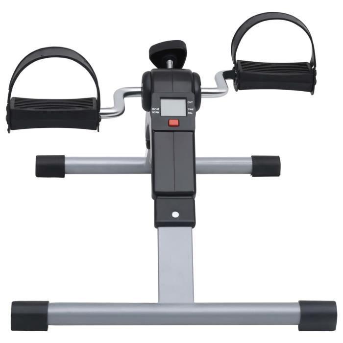 YUYJP Vélos d'appartement/Appareil d'exercices à pédales - pour jambes et bras à écran LCD - 49 x 37 x 36 cm - Noir et gris