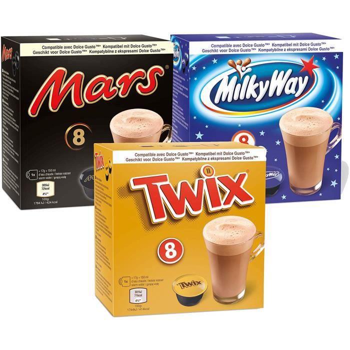 CAFÉ CD-848Probierset Mars, Twix, voie lactée pour Dolc