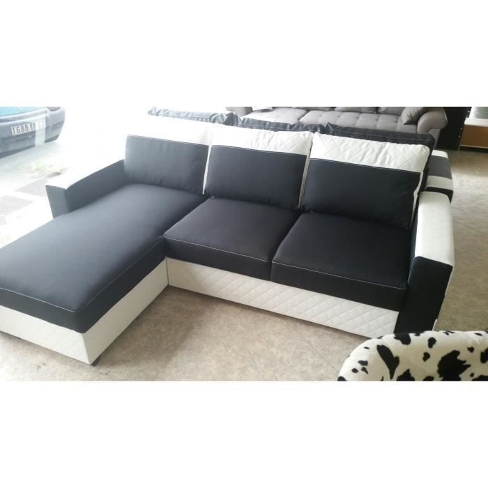 canape convertible angle reversible coffre achat vente canap sofa divan cdiscount. Black Bedroom Furniture Sets. Home Design Ideas