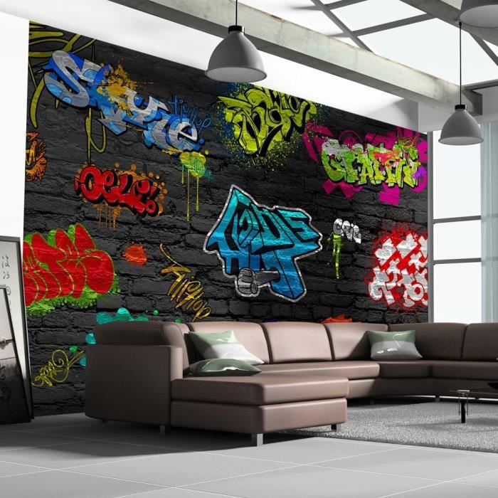 papier peint adhesif mural. Black Bedroom Furniture Sets. Home Design Ideas