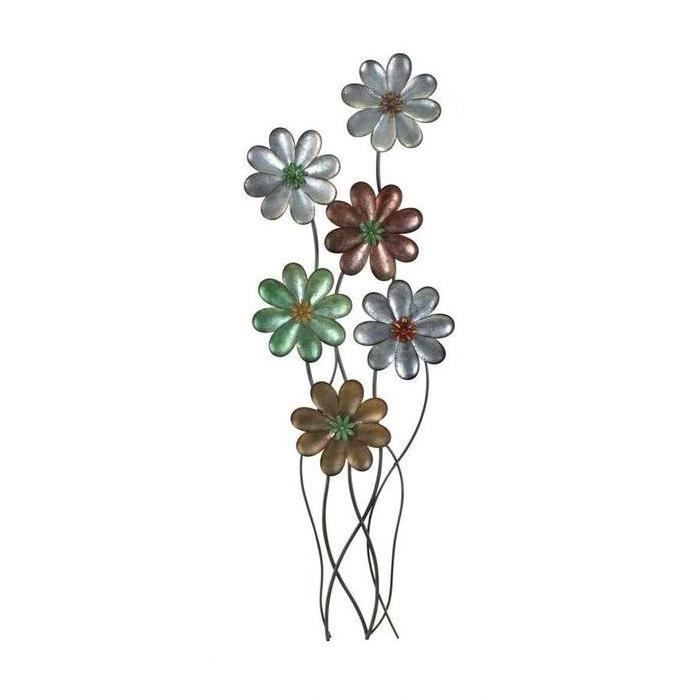 Fleur plante collection fer forg neuf metal d co murale for Decoration murale plante