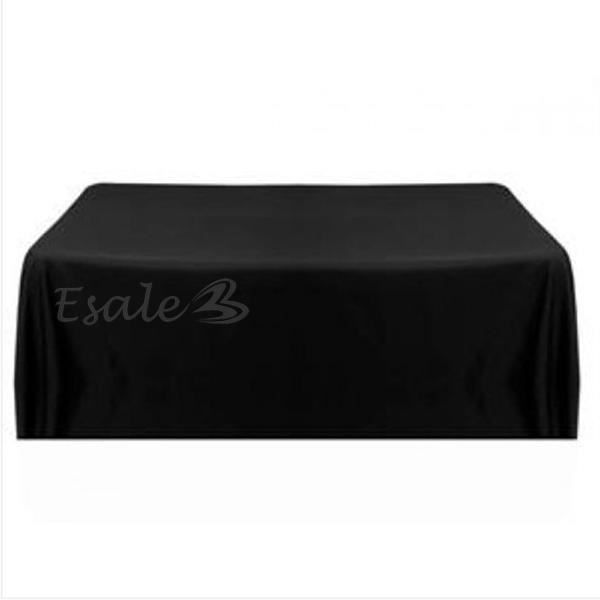 Nappe table noeud chaise satin noir carr pour c r monie - Nappe de table carre ...