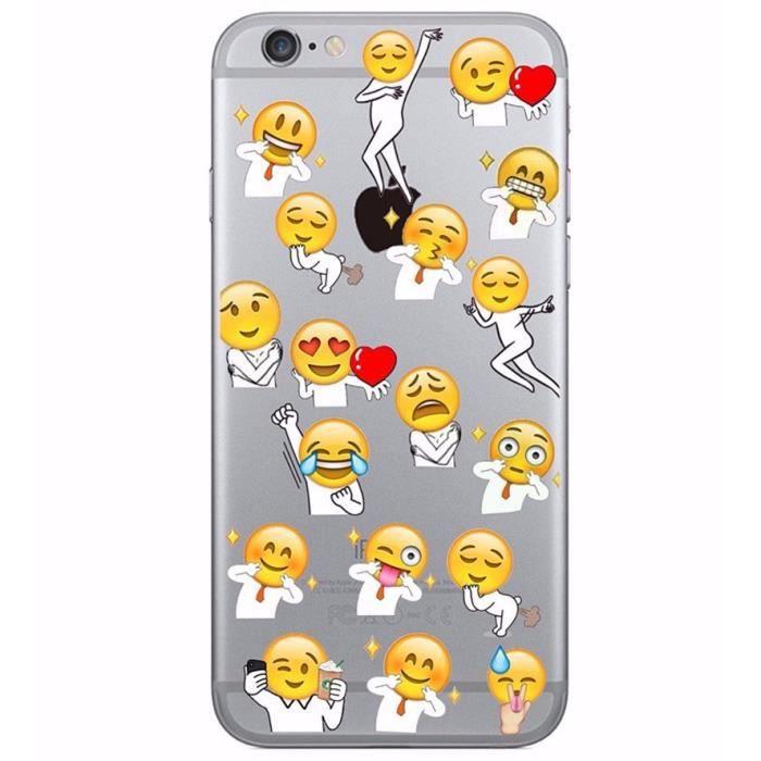 Coque Iphone 5 Et 5s En Gel Silicone Souple Transparent Smiley Emoji Drole Fun Homme Femme Love