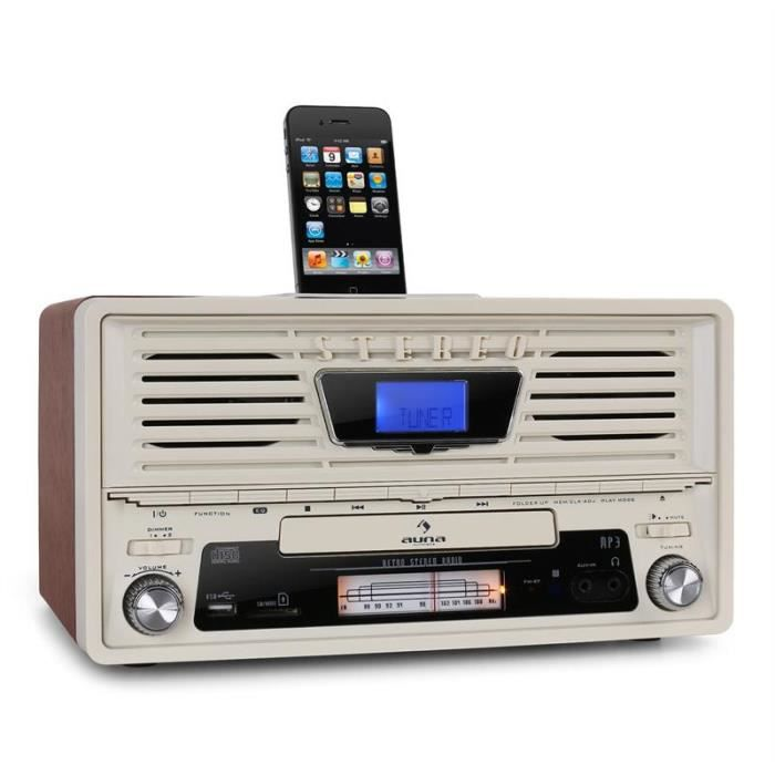 auna nr 550 radio r veil nostalgie usb sd cd aux achat. Black Bedroom Furniture Sets. Home Design Ideas