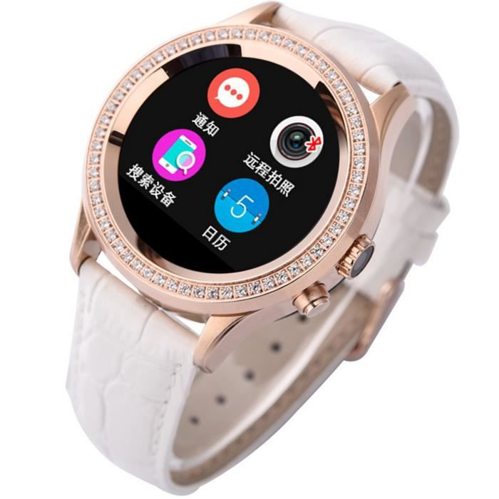 elisona smartwatch connect e bluetooth 4 0 femme strass montre avec podom tre dormir moniteur. Black Bedroom Furniture Sets. Home Design Ideas