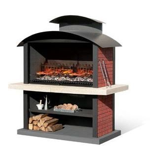 Barbecue fixe kansas mcz garden achat vente barbecue for Barbecue de jardin fixe