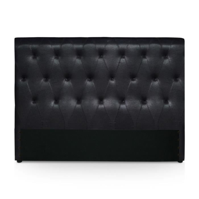 t te de lit reverin 160cm noir achat vente t te de lit. Black Bedroom Furniture Sets. Home Design Ideas