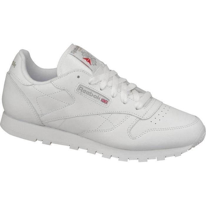 reebok classic leather 50151 white candy pink white candy pink achat vente basket cdiscount. Black Bedroom Furniture Sets. Home Design Ideas