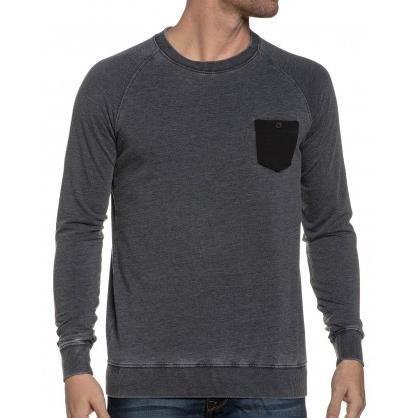 SWEATSHIRT Sweat homme gris charcoal poche poitrine