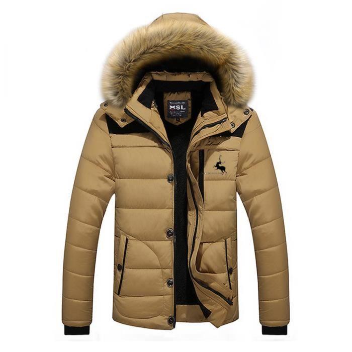 capuche Homme hiver veste Homme Manteau à Doudoune hommes qpSLVUzMG