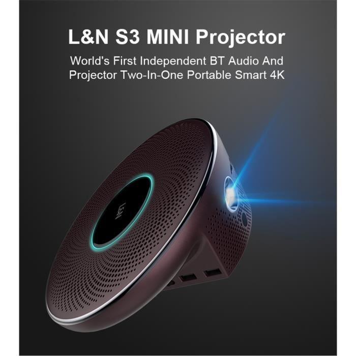 Vidéoprojecteur Vidéoprojecteur Full HD-L & N S3 DLP 3D Projecteur
