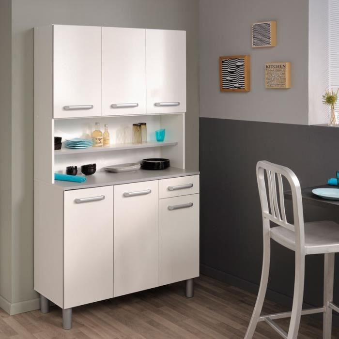 buffet de cuisine blanc brillant timy achat vente. Black Bedroom Furniture Sets. Home Design Ideas