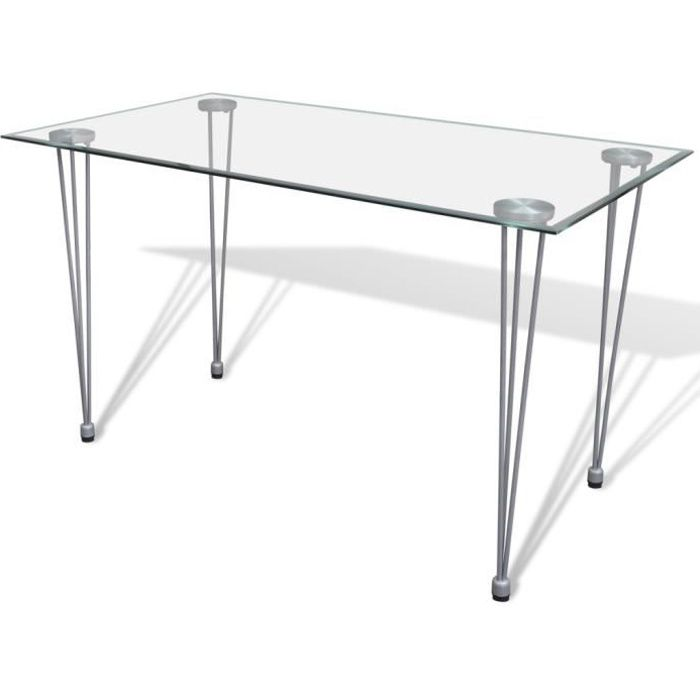 table transparente avec plateau en verre achat vente table a manger seule table transparente. Black Bedroom Furniture Sets. Home Design Ideas