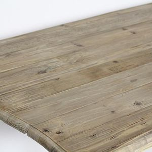 Table GM en pin recyclé - Naturel