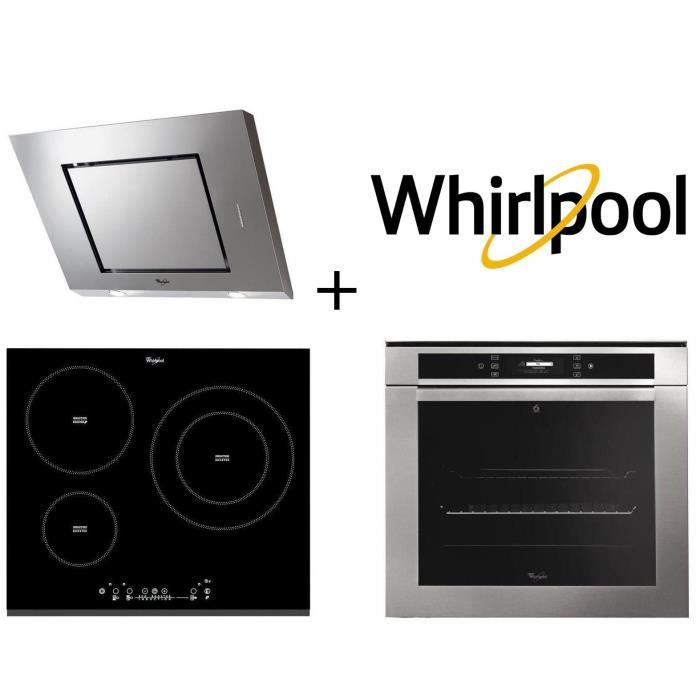 PACK cuisson WHIRLPOOL - AKZM670IX - Four électrique encastrable + ACM860BF-Table de cuisson induction + AKR808IX Elektra hotte