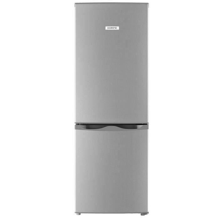 OCEANIC OCEAFC170S Réfrigérateur Congélateur bas - 165L (122L+43L) - Froid statique L 49,5 x H 143 cm - SILVER