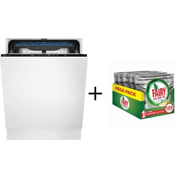 Electrolux Ees48200l Lave Vaisselle Encastrable 14 Couverts A Blanc Fairy Tablettes Pour Lave Vaiselle Tout En 1