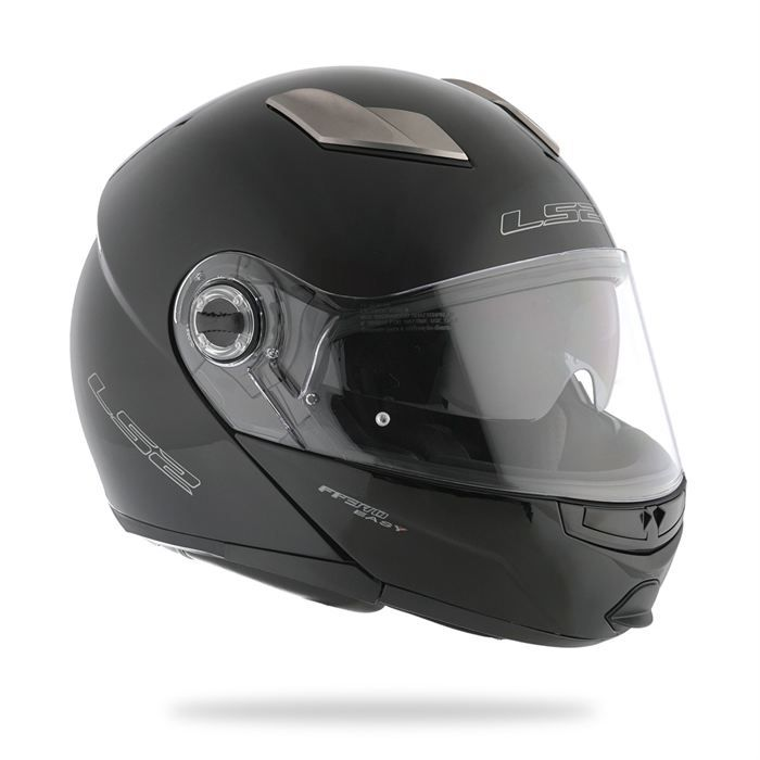 CASQUE MOTO SCOOTER LS2 Casque Modulable FF370 EASY Noir brillant
