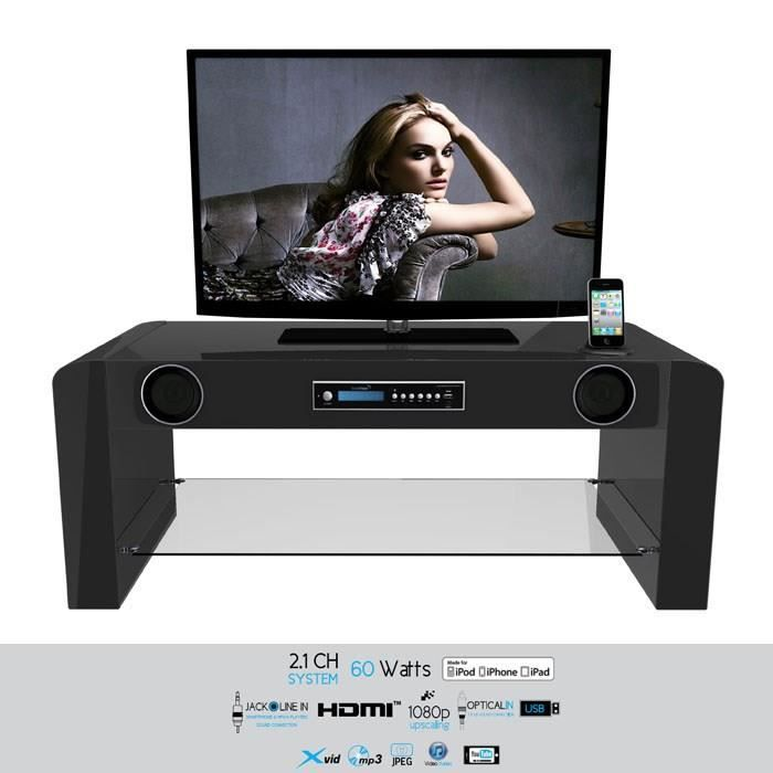 soundvision sv70b meuble tv hi fi meuble tv prix pas cher cdiscount. Black Bedroom Furniture Sets. Home Design Ideas