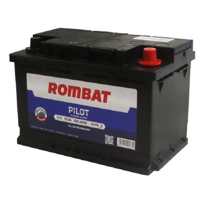 rombat pilot p370d batterie 12 v 70 ah 600 a noir achat vente batterie v hicule rombat. Black Bedroom Furniture Sets. Home Design Ideas