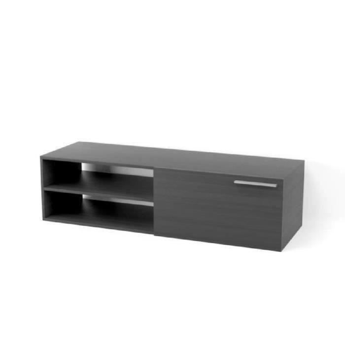 kikua meuble tv contemporain m lamin gris cendr l 130. Black Bedroom Furniture Sets. Home Design Ideas