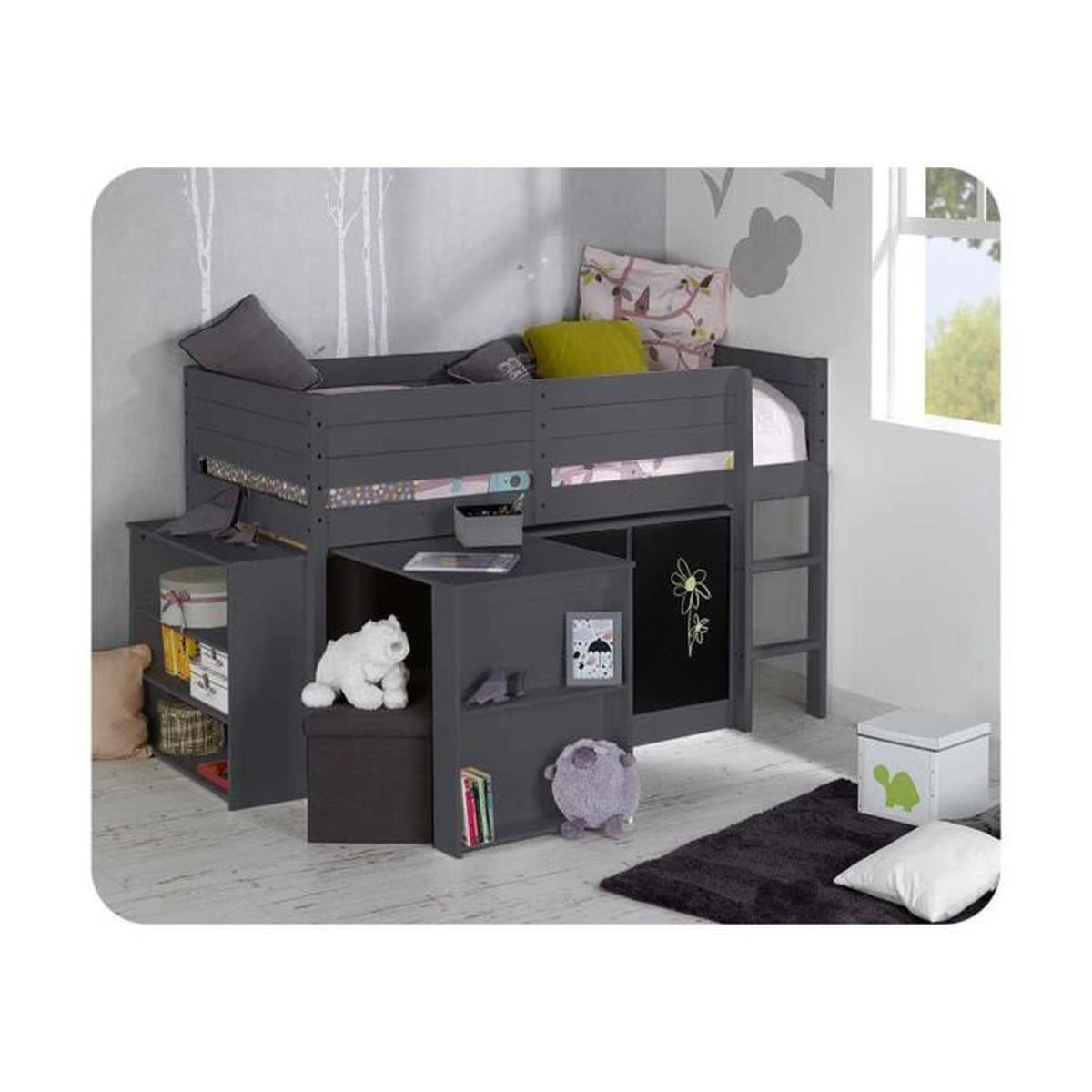 set lit enfant mi hauteur tamis 90x190 cm achat vente lit complet set lit enfant mi hauteur. Black Bedroom Furniture Sets. Home Design Ideas