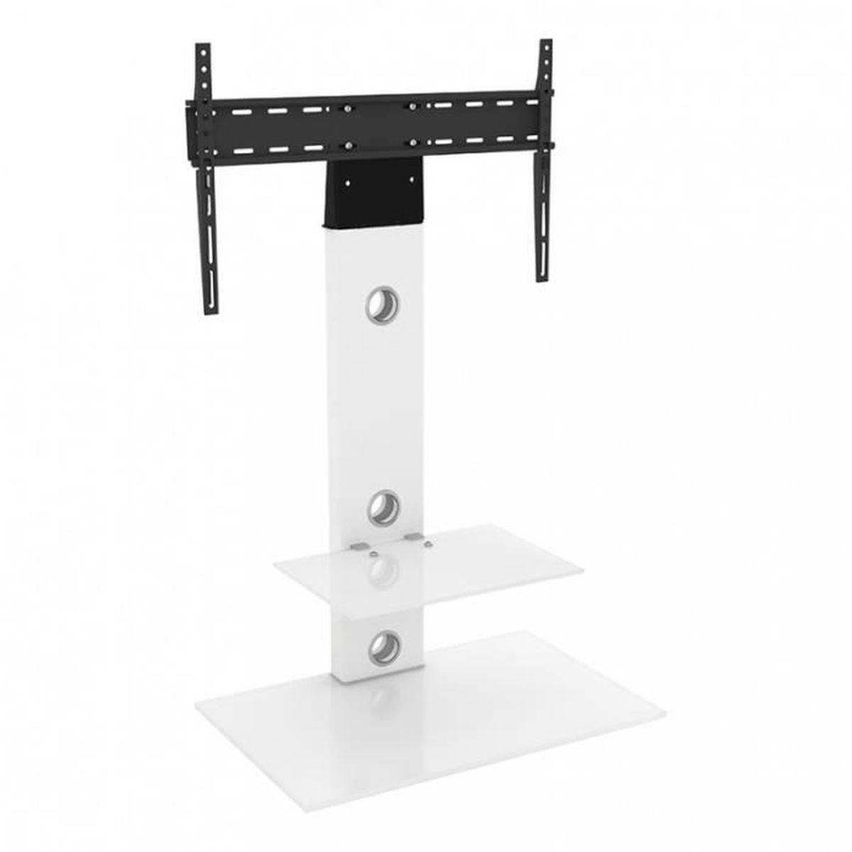 Hauteur Meuble Tele avf lesina meuble tv cantilever blanc avec support intégré