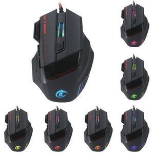 SOURIS HOT 5500 DPI 7D LED optique USB filaire PRO souris
