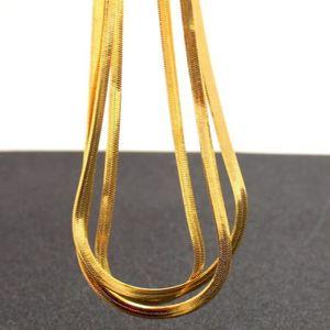 CHAINE DE COU SEULE plaqué or jaune 18 carats chaîne d'os de serpent p