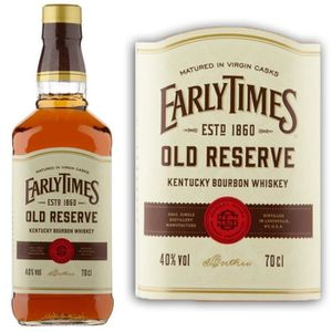 WHISKY BOURBON SCOTCH Early times Old Reserve 40° 70cl
