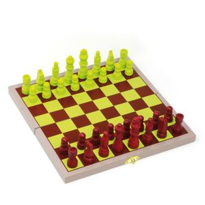 JEU SOCIÉTÉ - PLATEAU L'ARBRE A JOUER Coffret bois échecs