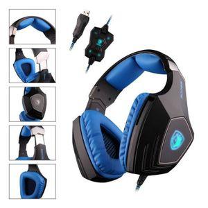 CASQUE AVEC MICROPHONE SADES A60 Casque Gaming PC, Casque Gamer filaire P