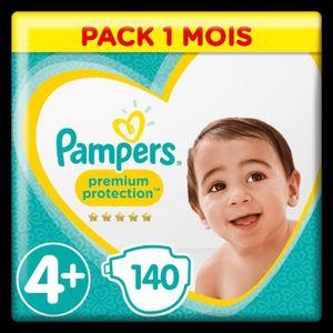 COUCHE PAMPERS Premium Protection Taille 4+ - De 9 à 18 k