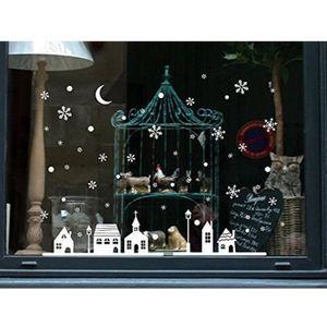 STICKERS DE NOËL Stickers Muraux Noël Décoration Vitre Fenêtre   Au