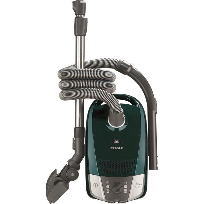 MIELE Compact C2 Excellence - Aspirateur traîneau avec sac- 550 W - A+ - 72 dB - 3 accessoires clipsés - Pétrole