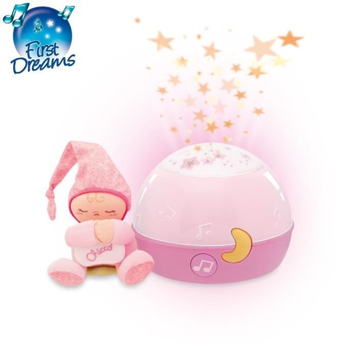 CHICCO Ma Lampe Magic'Projection Rose First Dreams