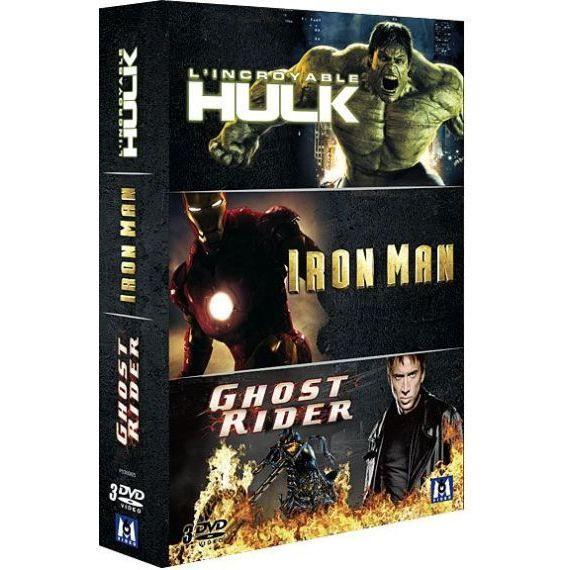 DVD L'Incroyable Hulk Iron Man Ghost Rider