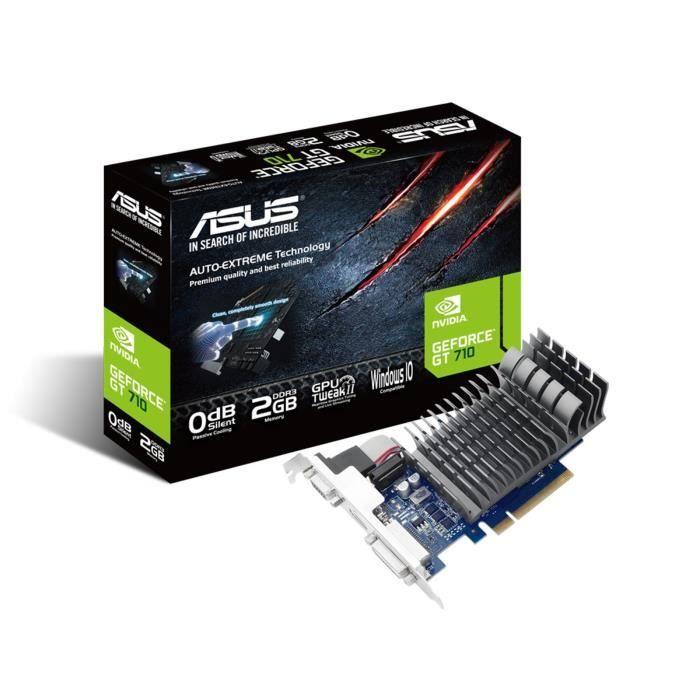 CARTE GRAPHIQUE INTERNE ASUS Carte Graphique NVIDIA GeForce® 710 - 2Go DDR