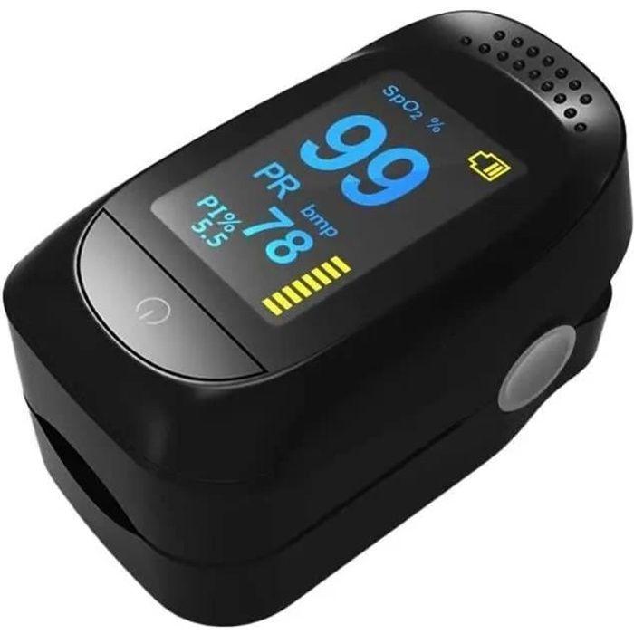 Oxymètre De pouls numérique LED oxymètre De fréquence cardiaque d'oxygène sanguin SpO2 Moniteurs De santé