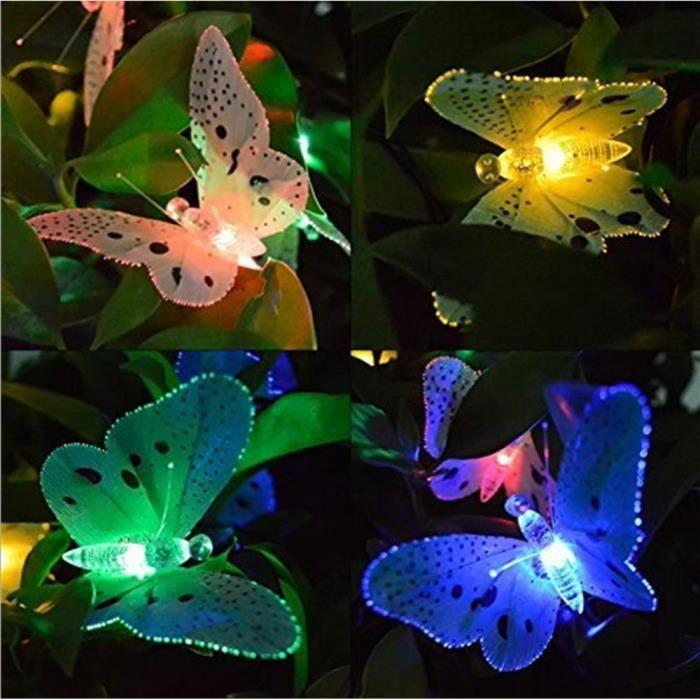 BANDE LED - RUBAN LED Énergie solaire 12LED papillon Fée Guirlande Lampe Jardin Décoration extérieure_u2762 Jeffrey 2666 zl