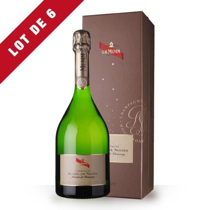6X Mumm Blanc de Noirs 75cl Brut - Coffret - Champagne