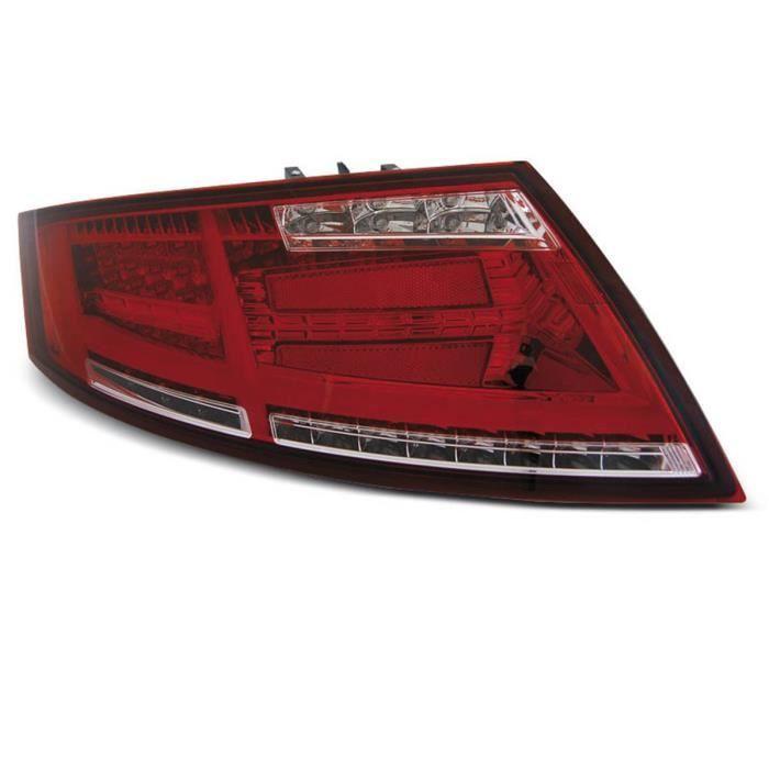 Paire de feux arriere Audi TT 06-14 FULL LED rouge blanc