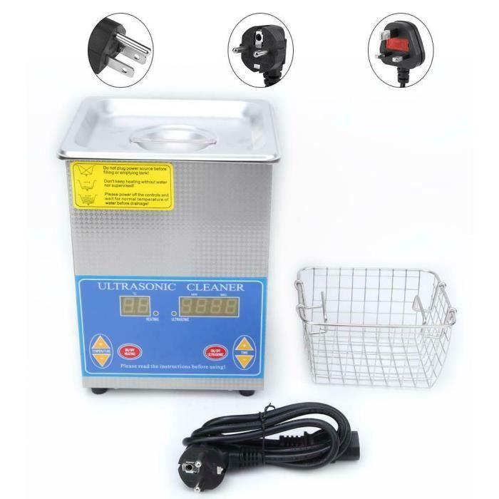 1.3L Nettoyeur de ultrasons Inoxydable numérique Machine de nettoyage chauffée Avec Minuterie -PAI