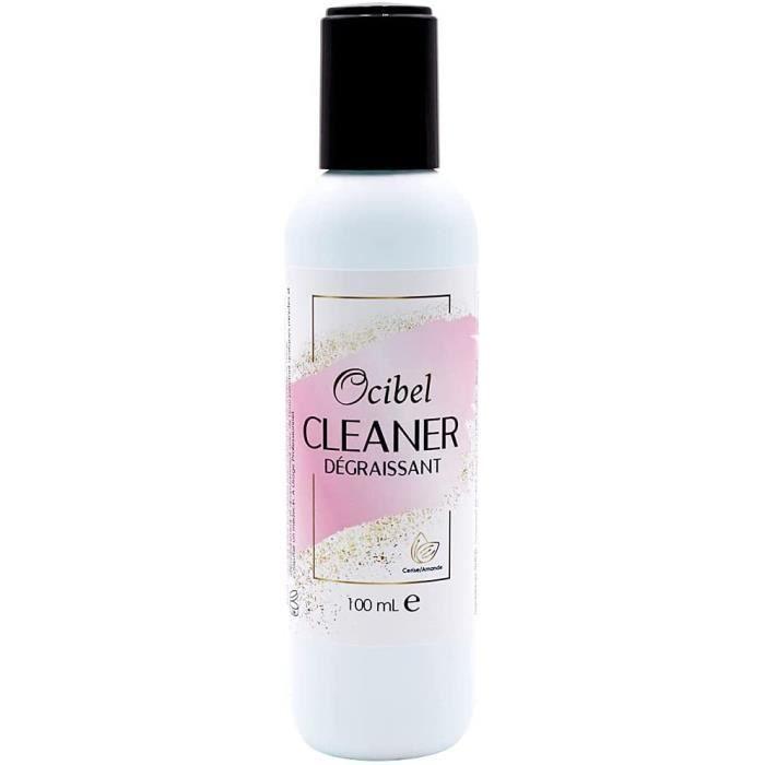 Ocibel - Cleaner Dégraissant Ongles Gel UV Parfum Cerise-Amande - 100 ml - Manucure, Faux Ongles et Nail Art