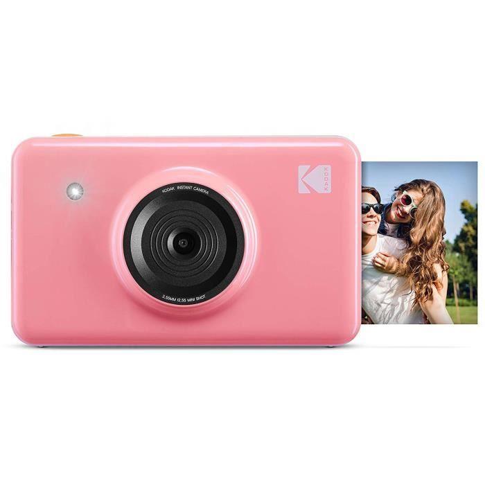 Kodak Mini Shot - Appareil Photo Numérique et Imprimante sans Fil, 5 x 7,6 cm, Technologie d'Impression Brevetée 4Pass, Rose