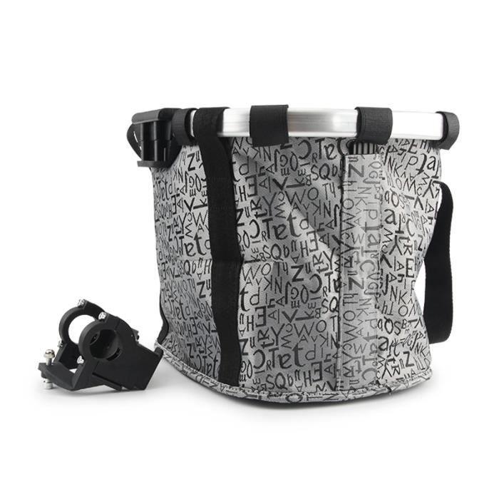 gris Panier en tissu pour vélo pour chien,sac pliable pour petit chat, voyage,